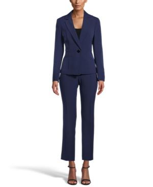 Notch-Collar Pantsuit
