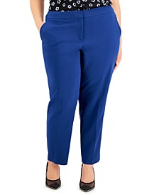 Plus Size Stretch Slim-Fit Pants, Created for Macy's