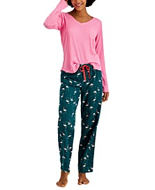 Ribbed Hacci Pajama Top & Pajama Pants Separates, Created for Macy's