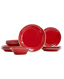 Chroma Red 12-Piece Place Setting