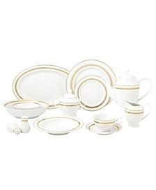 New Bone China 57 Piece Dinnerware Set, Service for 8