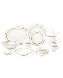 New Bone China 57 Piece Dinnerware Set, Service for 8