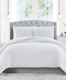Solid Matelasse 3 Piece Queen Duvet Set