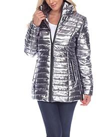 Women's Metallic Puffer Coat