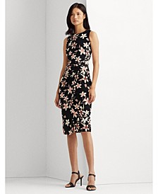 Floral Jersey Sleeveless Dress