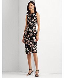 Lauren Ralph Lauren Floral Jersey Sleeveless Dress