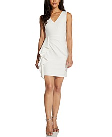 V-Neck Ruffled Sheath Dress