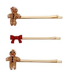 Festive Gingerbread Bobby Pin Set