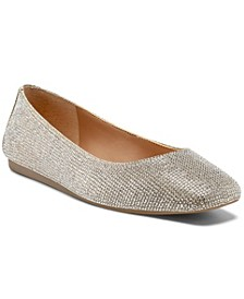 Juney Rhinestone Flats, Created for Macy's