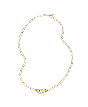 Lock Paper Clip Chain Necklace
