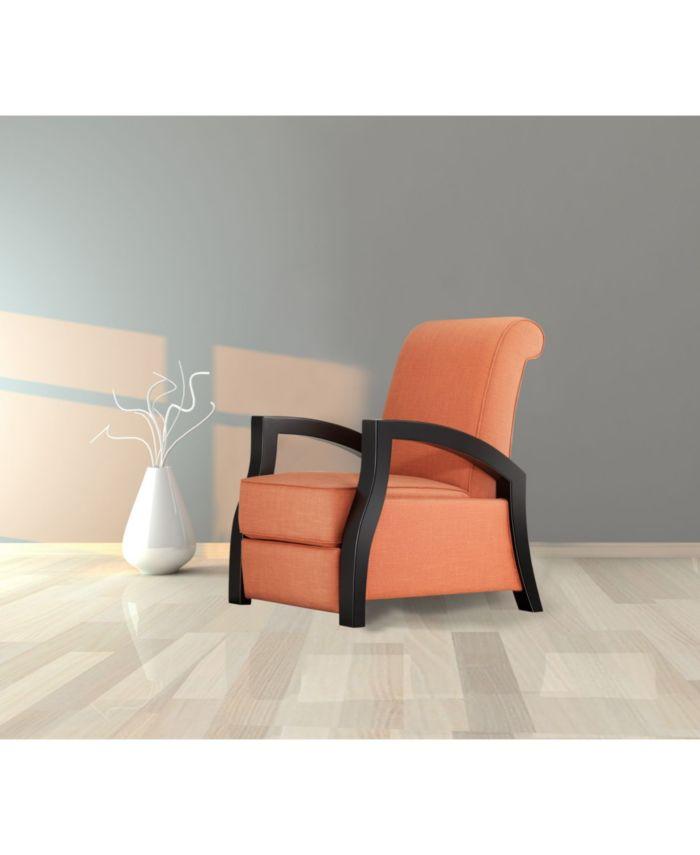 Artiva USA Kutak Solid Wood Java Black Premium Micro Velvet Recliner & Reviews - Furniture - Macy's