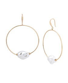 Pearl Gypsy Hoop Earrings