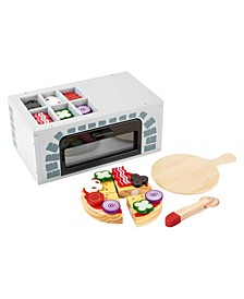Small Foot Wooden Toys Pizza Oven with Accessories Playset