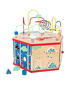 """Small Foot Wooden Toys xl Activity Center 7""""1 Iconic Motor Skills Playset"""
