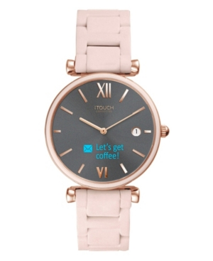 Connected Women's Hybrid Smartwatch Fitness Tracker: Rose Gold Case with Blush Metal Strap 38mm