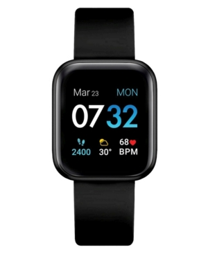 Air 3 Unisex Touchscreen Smartwatch Fitness Tracker: Black Case with Black Strap 40mm
