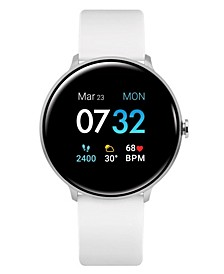 Sport 3 Unisex Touchscreen Smartwatch: Silver Case with White Strap 45mm