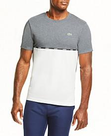 Men's SPORT Short Sleeve Crew Neck T-shirt with Lacoste Logo Tape