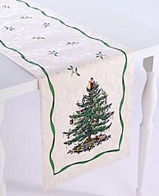 """Christmas Tree Ivory/Green 72"""" Runner"""