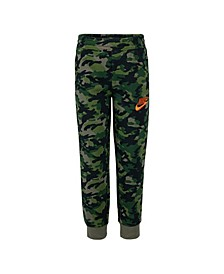 Little Boys Camo Printed Fleece Pants