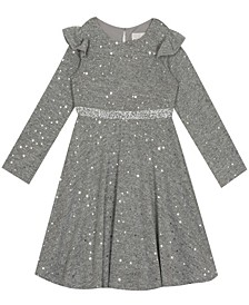 Big Girl Hacci Skater Dress With Ruffle Flutter Sleeve
