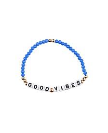Good Vibes 18k Gold Plated Crystal Bracelet