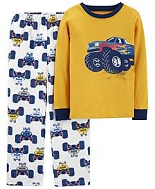 Big Boy 2-Piece Fleece & 100% Snug Fit Cotton PJs