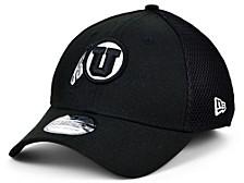 Utah Utes Black White Neo 39THIRTY Cap