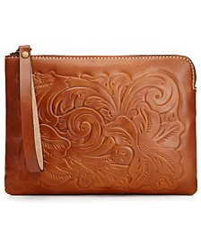 Cassini Tooled Leather Wristlet