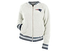 New England Patriots Women's Sherpa Bomber Jacket