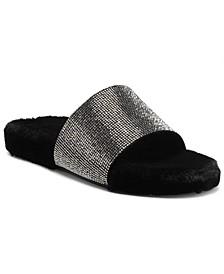 INC Feymin Faux-Fur Slipper Slides, Created for Macy's