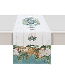 """Christmas By The Sea Table Runner - 90"""" x 13"""""""