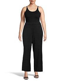 Plus Size High-Rise Sweater Pants