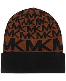 Metallic MK Logo Cuffed Beanie