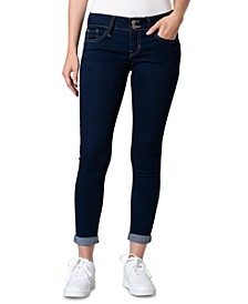 Juniors' Curvy-Fit Roll-Cuff Skinny Ankle Jeans