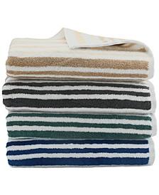 Elite Cotton Tri-Stripe Bath Towel Collection, Created for Macy's
