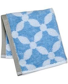 "Dot Lattice 13"" x 13"" Wash Towel, Created for Macy's"