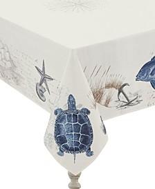 "Seaside Postcard Tablecloth - 70""x 120"""