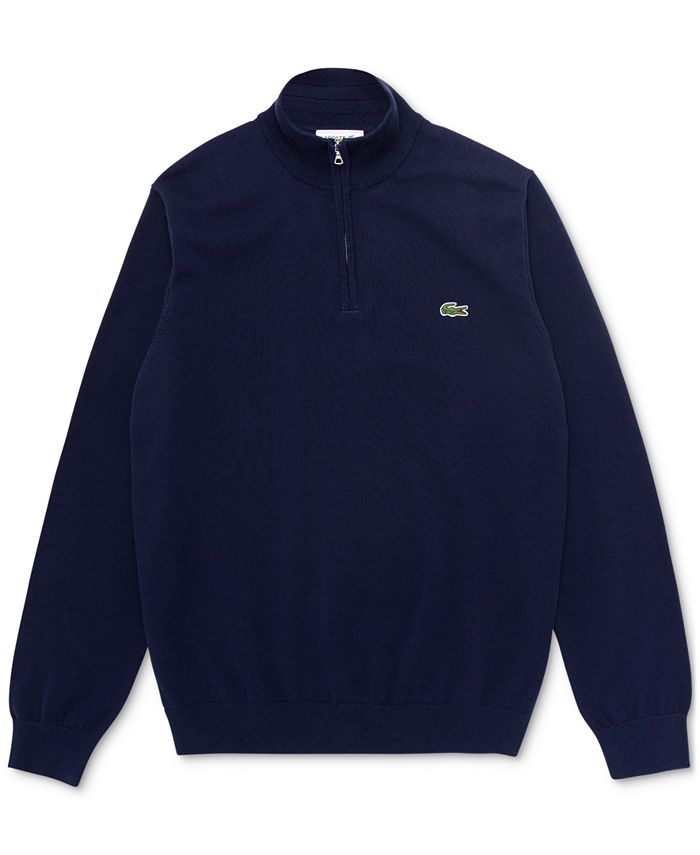 Lacoste - Men's Classic-Fit 1/4-Zip Sweater