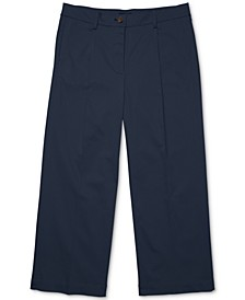 Women's Wide-Leg Chinos with Velcro® Closures