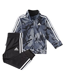 Little Boys Zip Front Classic Camo Jacket and Jogger Set