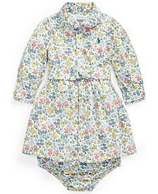 Ralph Lauren Baby Girls Floral Shirtdress Belt and Bloomer