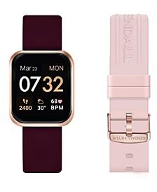 Women's Merlot and Blush Straps Smart Watch Set 36mm