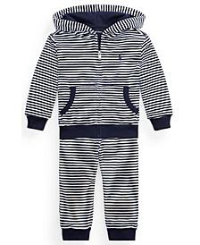 Ralph Lauren Baby Boys Velour Hoodie & Pant Set