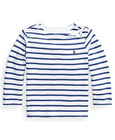 Ralph Lauren Baby Boys Striped Interlock Tee