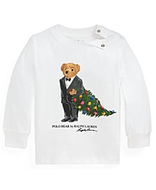 Ralph Lauren Baby Boys Holiday Bear Jersey Tee