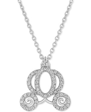 Diamond Cinderella Carriage Pendant Necklace (1/4 ct. t.w.) in 14k White Gold