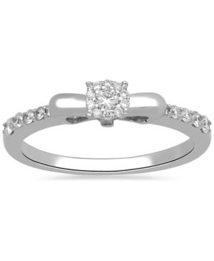 Diamond Snow White Bow Ring (1/4 ct. t.w.) in 10k White Gold