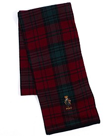 Men's Toggle Bear Plaid Scarf