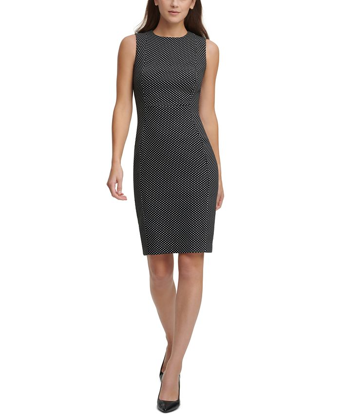 Calvin Klein - Polka-Dot Sheath Dress